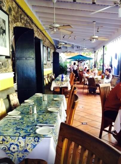 Amalia Cafe Spanish Restaurant in Palm Passage, Saint Thomas, US Virgin Islands